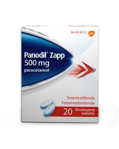 Panodil Zapp tabletter 500 mg 20 stk