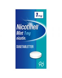 Nicotinell 1mg sugetabletter for røykeslutt Mint 96 stk