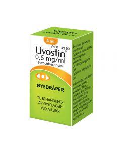 Livostin øyedråper 0,5 mg/ml 4 ml