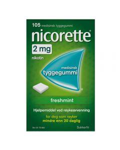 Nicorette freshmint tyggegummi 2 mg 105 stk