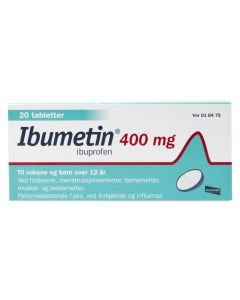 Ibumetin tabletter 400 mg 20 stk