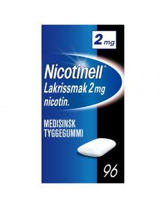 Nicotinell 2mg tyggis for røykeslutt Lakris 96 stk