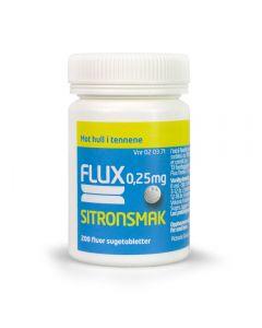 Flux sugetabletter sitron 0,25 mg 200 stk