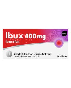 Ibux tabletter 400 mg 20 stk