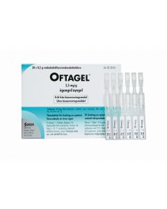 Oftagel øyegel 2,5 mg/g stk 30 x 0,5g