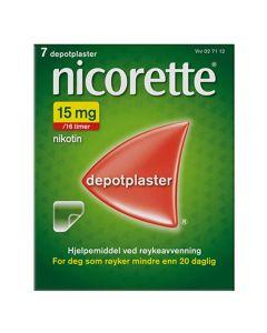 Nicorette depotplaster 15mg/16timer 7stk