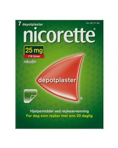 Nicorette depotplaster 25mg/16timer 7stk
