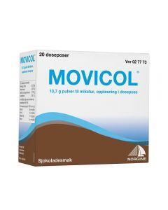 Movicol pulver til mikstur sjokolade 20 doser