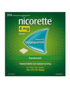 Nicorette freshmint tyggegummi 4 mg 210 stk