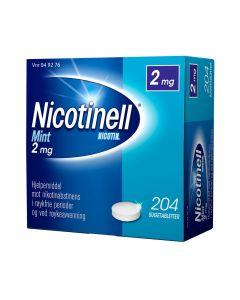 Nicotinell 2 mg sugetabletter for røykeslutt mint 204 stk