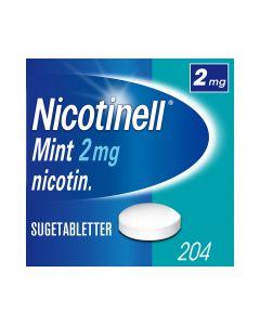 Nicotinell 2mg sugetabletter for røykeslutt Mint 204 stk