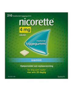 Nicorette icemint tyggegummi 4 mg 210 stk