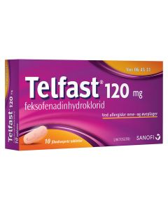 Telfast tabletter 120 mg 10 stk