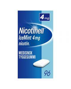 Nicotinell 4mg tyggis for røykeslutt Icemint 96 stk