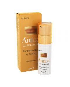 Antix krem 5% pumpeflaske 2g