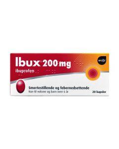 Ibux kapsler 200 mg 20 stk