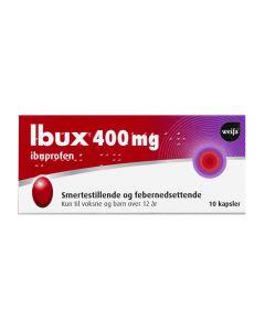 Ibux kapsler 400 mg 10 stk