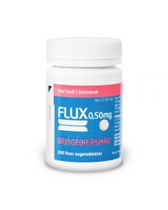 Flux sugetabletter bringebær 0,50 mg 200 stk