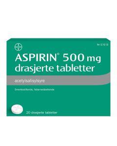 Aspirin tabletter 500 mg 20 stk