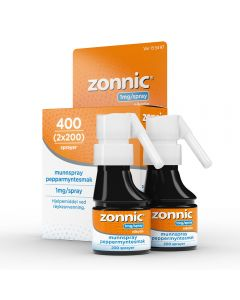 Zonnic 1 mg/dose munnspray peppermynte 2x200 doser