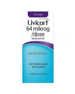 Livicort 64 mikrog/dose nesespray