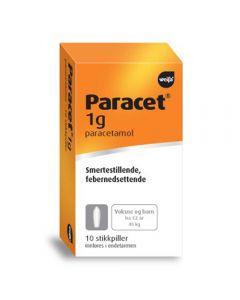 Paracet stikkpille 1g 10 stk