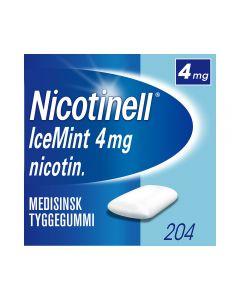Nicotinell 4mg tyggis for røykeslutt Icemint 204 stk