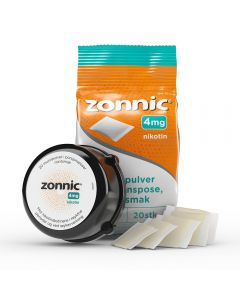 Zonnic munnpulver mint 4 mg 20 poser