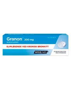 Granon brusetabletter 200 mg 20 stk