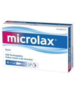 Microlax rektalvæske 4 x 5 ml