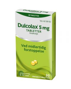 Dulcolax enterotabletter 5 mg 30 stk