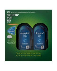 Nicorette sugetablett 2 mg, Frukt, 160 stk