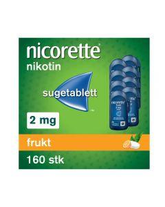 Nicorette sugetablett frukt 2 mg 160 stk