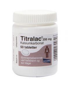 Titralac tabletter 350 mg 50 stk