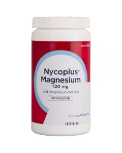 Nycoplus Magnesium tyggetabletter 120 mg 60 stk
