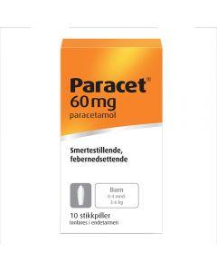 Paracet stikkpiller 60mg 10 stk