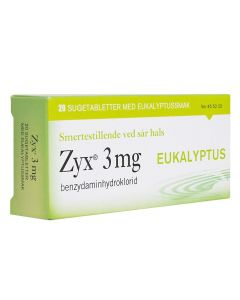 Zyx sugetabletter Eukalyptus 3 mg 20 stk