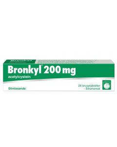 Bronkyl Forte slimløsende brusetabletter med sitronsmak 200 mg 25 stk