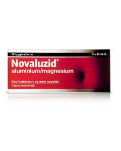 Novaluzid tyggetabletter mint 30 stk