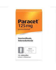 Paracet stikkpiller 125mg 10 stk