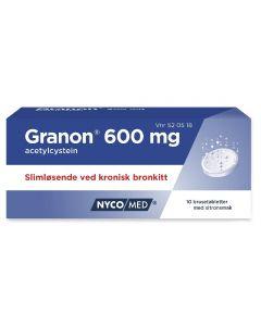 Granon brusetabletter 600 mg 10 stk