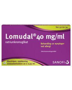 Lomudal øyedråper 40 mg/ ml 20 x 0,35 ml