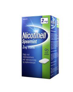 Nicotinell tyggegummi spearmint 2 mg 96 stk