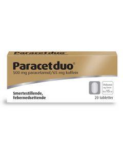 Paracetduo tabletter 500/65mg 20 stk