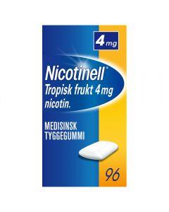 Nicotinell 4mg tyggis for røykeslutt Tropisk frukt 96 stk