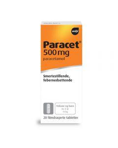 Paracet avlange rabletter 500 mg 20 stk