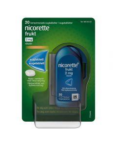 Nicorette sugetablett 2 mg, Frukt, 20 stk