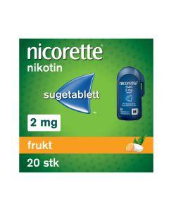 Nicorette sugetablett frukt 2 mg 20 stk
