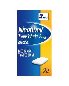 Nicotinell 2mg tyggis for røykeslutt Tropisk frukt 24 stk