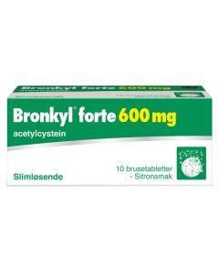 Bronkyl Forte brusetabletter 600 mg 10 stk
